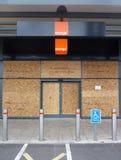Dommages aux systèmes en stationnement au détail vigoureux de Tottenham Image libre de droits