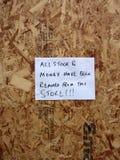 Dommages aux systèmes en stationnement au détail vigoureux de Tottenham Photos stock