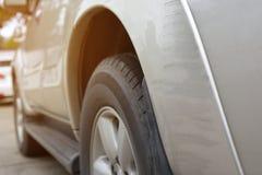 Dommages d'éraflure de voiture de véhicule d'accident photo libre de droits