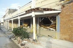 Dommages d'Andrew d'ouragan, Jeanerette, secteur de LA - catastrophe nationale Images libres de droits