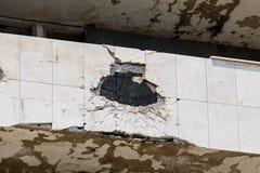 Dommages d'artillerie Image stock