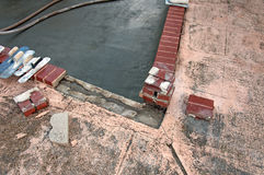 Dommages de bord de piscine Photos libres de droits