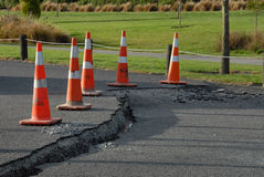 Dommages de séisme de la Nouvelle Zélande Photos stock