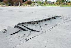 Dommages de séisme de la Nouvelle Zélande Images libres de droits