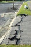 Dommages de séisme de la Nouvelle Zélande Photos libres de droits