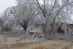 Dommages de tempête de glace Images libres de droits