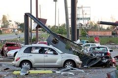 Dommages de tornade de Ringgod la Géorgie Images libres de droits