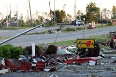 Dommages de tornade de Ringgod la Géorgie Photos stock