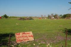 Dommages de tornade - pas s'est assuré Images stock