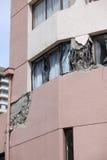 Dommages de tremblement de terre du Chili photo stock