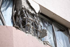 Dommages de tremblement de terre du Chili images stock