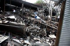 Dommages de tsunami Images libres de droits