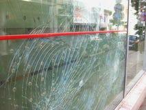 Dommages des émeutes, Patra Grèce Photo libre de droits
