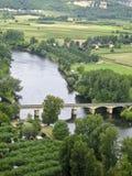 domme dordogne όψη ποταμών της Γαλλίας Στοκ φωτογραφίες με δικαίωμα ελεύθερης χρήσης