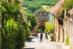 Domme-Dorf in Dordogne-Abteilung, Frankreich lizenzfreies stockbild