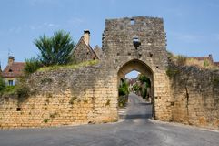Domme, France. Porte del Bos in Domme, Dordogne (Perigord), Aquitaine, France Royalty Free Stock Photo