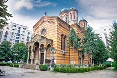 Domnita Balasa教会在布加勒斯特 库存照片