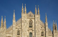 Domo cathedral, front view Royalty Free Stock Photography