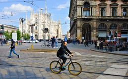 Domo da praça de Milão Italia Imagem de Stock Royalty Free