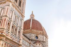Domo de Florença na foto da manhã feita com luz suave Fotografia de Stock