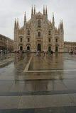 Domo de Milão, Praça del Domo Fotos de Stock Royalty Free
