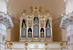 Domo do órgão de tubulação, Noto, Sicília, Itália Imagens de Stock