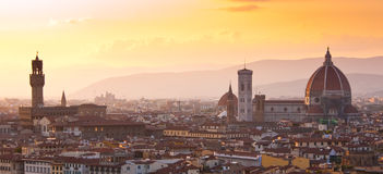 Domo e Palazzo Signoria Firenze Fotos de Stock