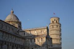 Domo e torre inclinada de Pisa Fotografia de Stock