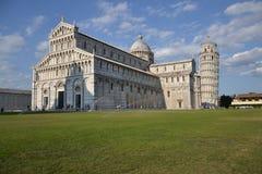 Domo e torre inclinada de Pisa Foto de Stock Royalty Free