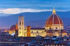 Domo Santa Maria Del Fiore em Florença, Itália Imagem de Stock