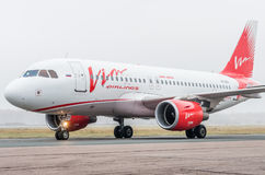 Domodedovo airport, Moscow - October 25th, 2015: Airbus A319 of Vim Airlines Stock Images
