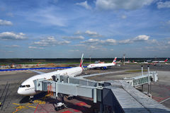 Domodedovo-Flughafen, Russland Stockfotografie