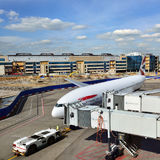 Domodedovo-Flughafen, Russland Stockfotos