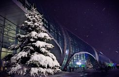 Domodedovoluchthaven, luchthaven Domodedovo Stock Afbeeldingen
