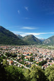 Domodossola city. Panoramic vertical view of Domodossola city, Italy Royalty Free Stock Photos