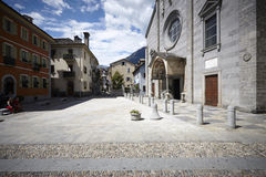 Domodossola, historic Italian city Stock Image