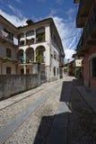 Domodossola, historic Italian city. Domodossola's historic center, tourist Italian towns Stock Image