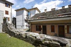 Domodossola, historic Italian city. Domodossola's historic center, tourist Italian towns Royalty Free Stock Photos