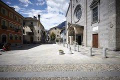 Domodossola, historische Italiaanse stad Stock Afbeelding