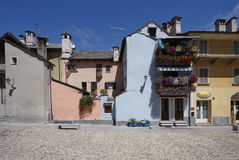 Domodossola, historische italienische Stadt Stockfotografie