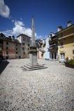 Domodossola historisk italiensk stad Arkivbilder
