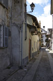 Domodossola historisk italiensk stad Royaltyfri Foto