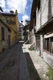 Domodossola historisk italiensk stad Arkivfoto