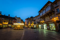 Domodossola, piazza Mercato Obraz Stock