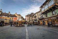 Domodossola, Piazza Mercato Stock Photography