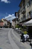 Domodossola, Piemonte, Italië Centraal marktvierkant Royalty-vrije Stock Foto's
