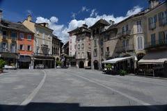 Domodossola, Piemonte, Italië Centraal marktvierkant Stock Afbeelding