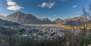 Domodossola, Veduta dal Sacro monte Calvario Obrazy Stock