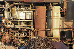 Domolishing Babinda idoso Sugar Mill Imagens de Stock Royalty Free