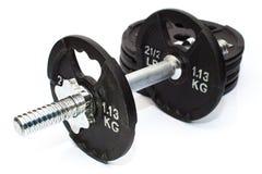 Domoorgewichten met Extra Gewichten op Achtergrond Royalty-vrije Stock Fotografie